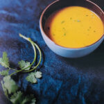 soupe de carottes et coriandre fraiche